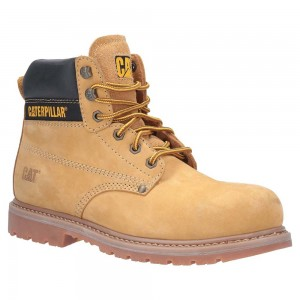 Caterpillar Powerplant S3 Welted Honey Leather Mens Safety Boots