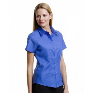 Kustom Kit Ladies Pinpoint S/S Shirt
