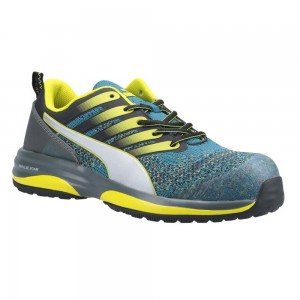 Puma Safety Charge Metal Free ESD Green Blue Lightweight Safety Trainers