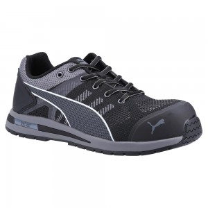 Puma Safety Elevate Knit Low Black Lightweight ESD Safety Trainers