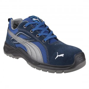 Puma Sky Omni Low Two Tone Blue S1P SRC Mens Safety Trainer Work Shoes