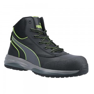 Puma Safety Rapid Mid Black Metal Free ESD Lightweight Safety Boots