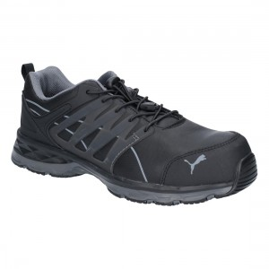 Puma Velocity 2 Black Metal Free S3 ESD Lightweight Mens Safety Trainers