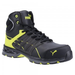 Puma Safety Velocity Mid 2 Black Metal Free ESD Lighweight Safety Boots