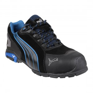 Puma Safety Shoes Rio Low Modern Sporty Black Mens Safety Trainers