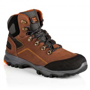No Risk Saturne Lightweight S3 Brown Leather Mens Safety Boots