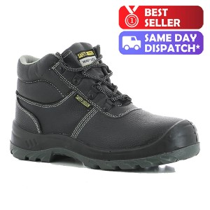Safety Jogger Bestboy S3 SRC Black Leather Unisex Chukka Safety Boots
