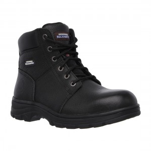 Skechers Workshire Black Leather SK77009EC Mens Safety Work Boots