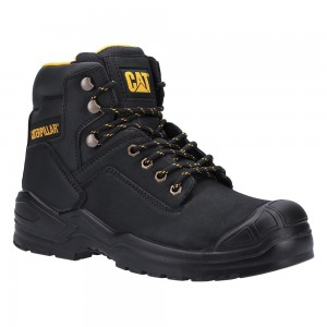 Caterpillar Striver S3 Black Leather Bump Cap Mens Safety Boots