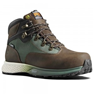 Timberland Pro Reaxion Aerocore Brown Euro Hiker Safety Work Boots