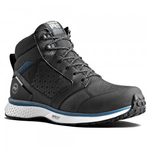 Timberland Pro Reaxion Mid S3 SRC Black Blue Hiker Safety Boots