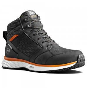Timberland Pro Reaxion Mid S3 SRC Black Orange Hiker Safety Boots