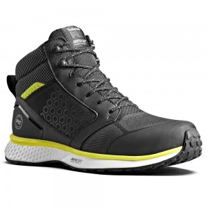 Timberland Pro Reaxion Mid S3 SRC Black Yellow Hiker Safety Boots