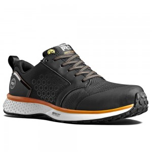 Timberland Pro Reaxion S3 Black Orange Mens Aerocore Safety Trainers