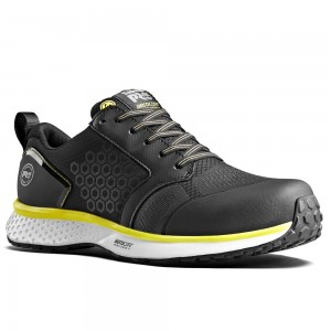 Timberland Pro Reaxion S3 Black Yellow Mens Aerocore Safety Trainers