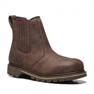 V12 Rawhide V1231 Brown Leather Safety Dealer Boots