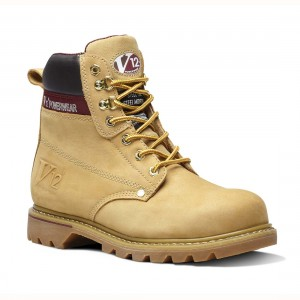 V12 Boulder V1237 Goodyear Welted Honey Nubuck Leather Safety Boots