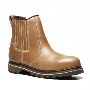 V12 Stampede V1241 Vintage Brown Leather Safety Dealer Boots