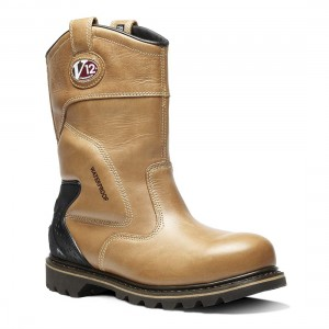 V12 Tomahawk V1250 Vintage Leather Waterproof Safety Rigger Boots