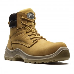 V12 Bobcat V6420 Honey Nubuck Lightweight Unisex S1P SRC Safety Boots