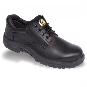 V12 Tiger VR608 Black Leather Safety Shoes