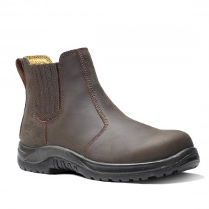 V12 Stallion VR610 Waxy Brown Leather Safety Dealer Boots