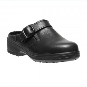 84fdac01187f Parade Batina Womens Buckle Fastened Black Microfiber Safety Work Shoes