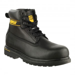 CAT Holton SB Black Leather Safety Boots
