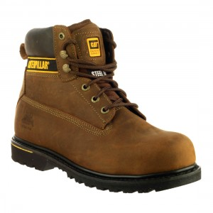 CAT Holton SB Brown Leather Safety Boots