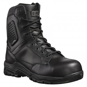 Magnum Strike Force 8 Black Leather Waterproof Metal Free Safety Boots