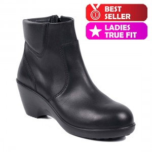 Lavoro Julia Ladies Premium Leather Chelsea Safety Boots with Side Zip