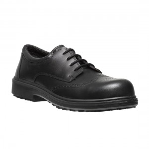 Osaka Smart Executive Black Leather Metal Free Brogue Safety Work Shoes