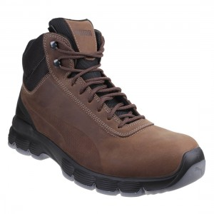 Puma Condor Mid Brown Leather Classic Hiker Style Mens Safety Work Boots