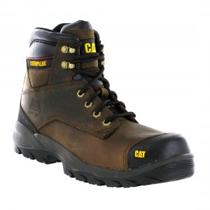 Caterpillar Waterproof Spiro SRX Dark Brown Leather S3 Mens Safety Boots