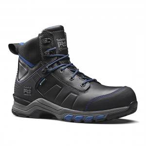 Timberland Pro Hypercharge Black Teal Leather Waterproof Safety Boots