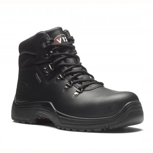 V12 Thunder V1215 Black Leather Waterproof Safety Hiker Boots