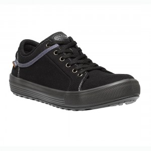 Parade Footwear Valley Unisex Black Canvas Lightweight Safety Sneakers