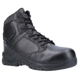 Magnum Strike Force 6 Black Leather Waterproof Metal Free Safety Boots