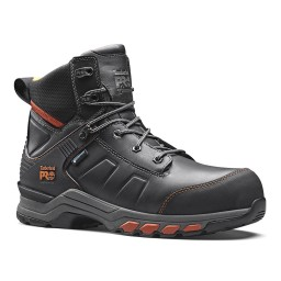 Timberland Pro Hypercharge Black Orange Leather Waterproof Safety Boots