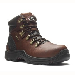 V12 Storm V1219 Premium Brown Leather Waterproof Safety Hiker Boots