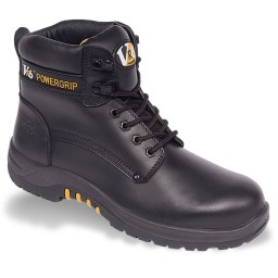 V12 Bison VR600 Waxy Black Leather Safety Boots
