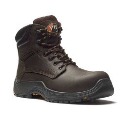 V12 Bison VR601 IGS Brown Leather Lightweight Metal Free Safety Work Boots